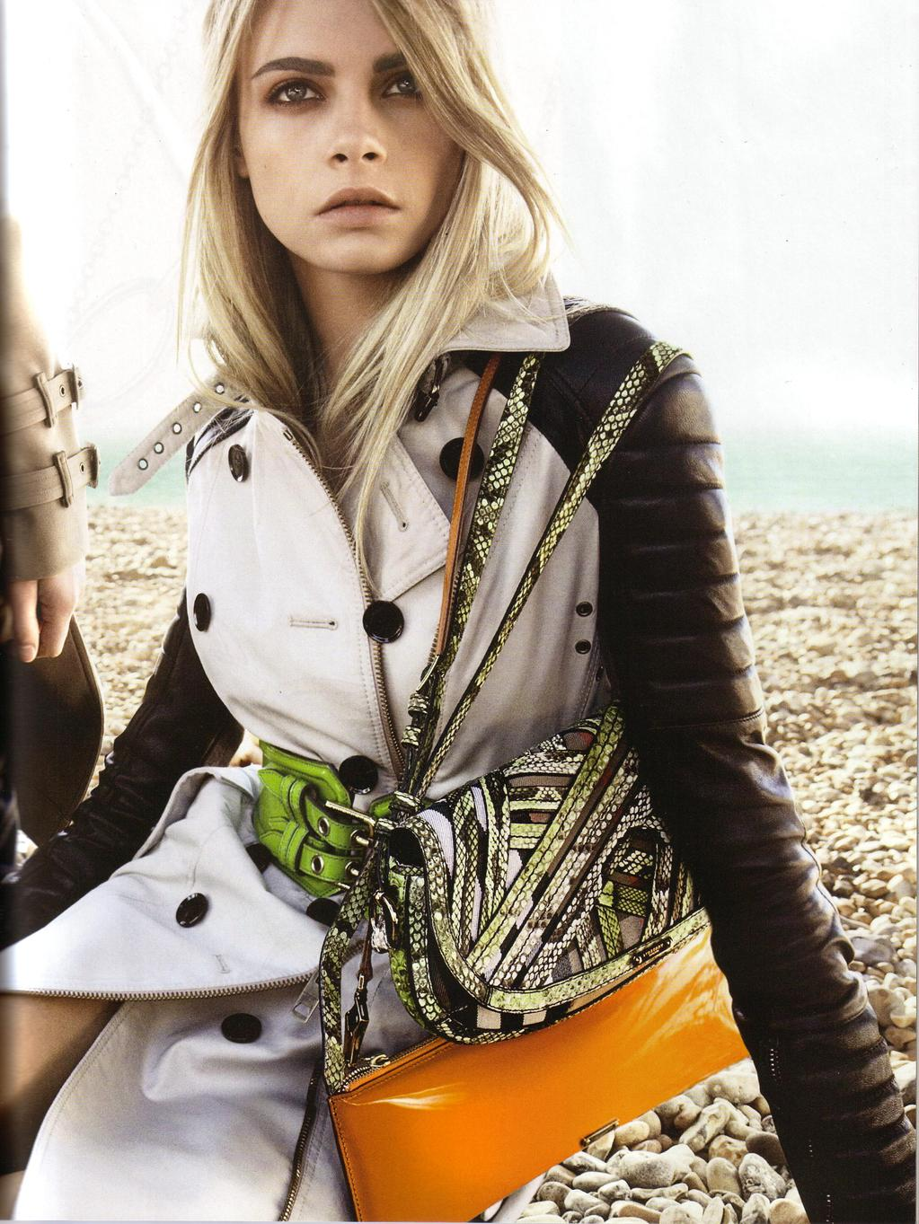 Fashion week Delevigne poppy for louis vuitton summer campaign for lady
