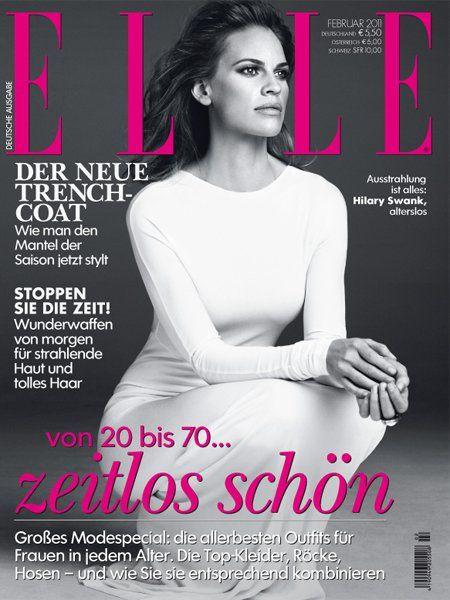 hilary swank 2011. Hilary Swank for Elle Germany