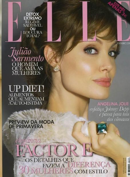 Angelina Jolie for Elle Portugal February 2011