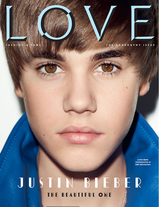 justin bieber love magazine cover. He was also on the cover of