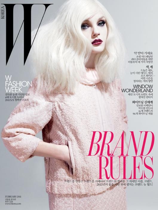 korea makeup. for W Korea February 2011