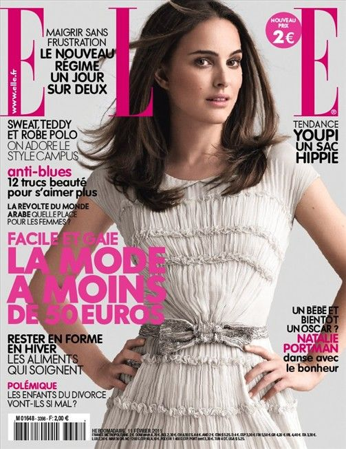 Natalie portman for elle france 3398 february 11th 2011 for Elle subscription change address
