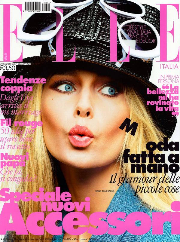Hana soukupova for elle italia april 2011 art8amby 39 s blog for Elle italia