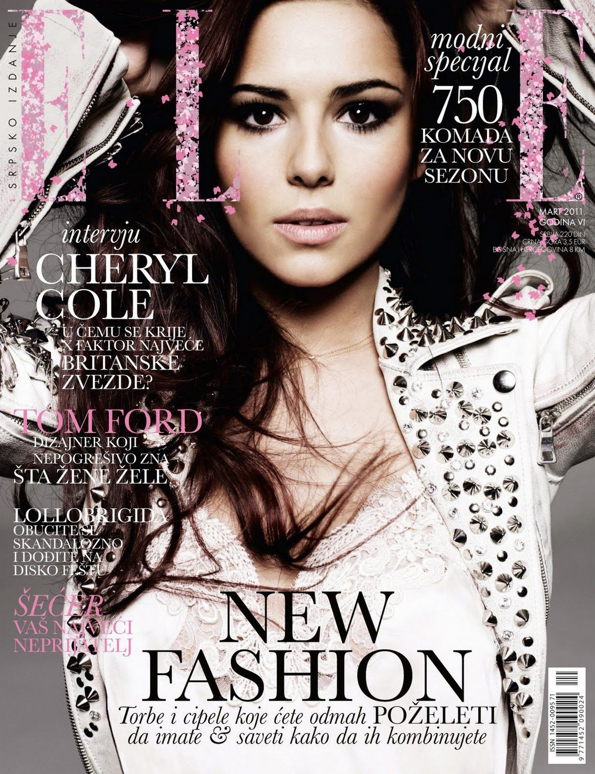Elle Magazine France February March: Cheryl Cole For Elle Serbia March 2011