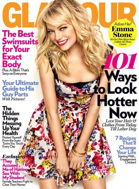 glamour magazine cover: