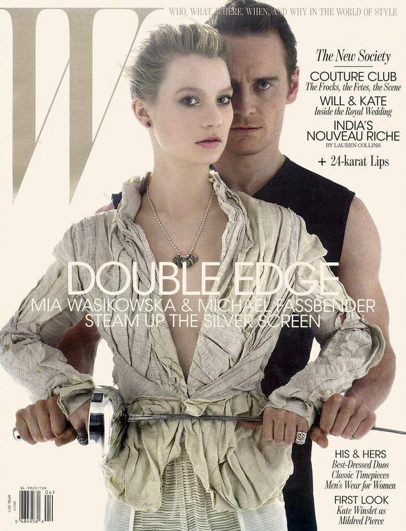 Mia Wasikowska & Michael Fassbender for W April 2011 ... | 591 x 772 jpeg 93kB