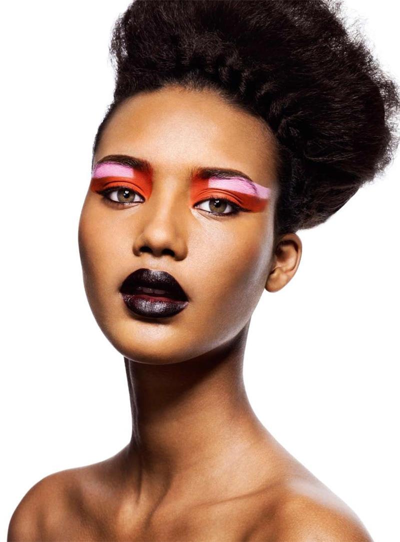 Beauty Editorial Chrishell Stubbs By Willem Jaspert For Arise 12 - Avant-garde-makeup-themes