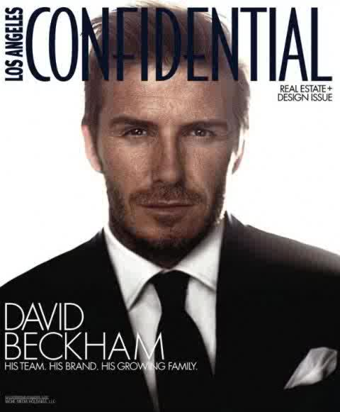 David Beckham for Los Angeles Confidential April 2011 By art8amby