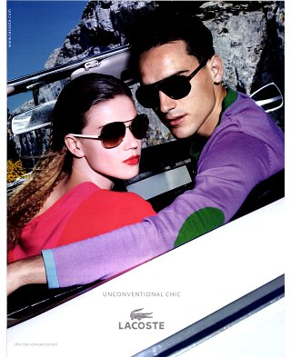 3206a434e28 Lacoste Eyewear Spring Summer 2011 Ad Campaign Preview