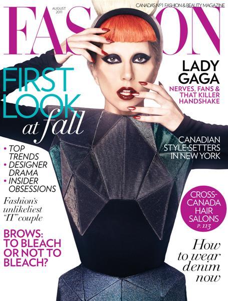 Lady gaga for fashion magazine canada august 2011 Revista fashion style magazine