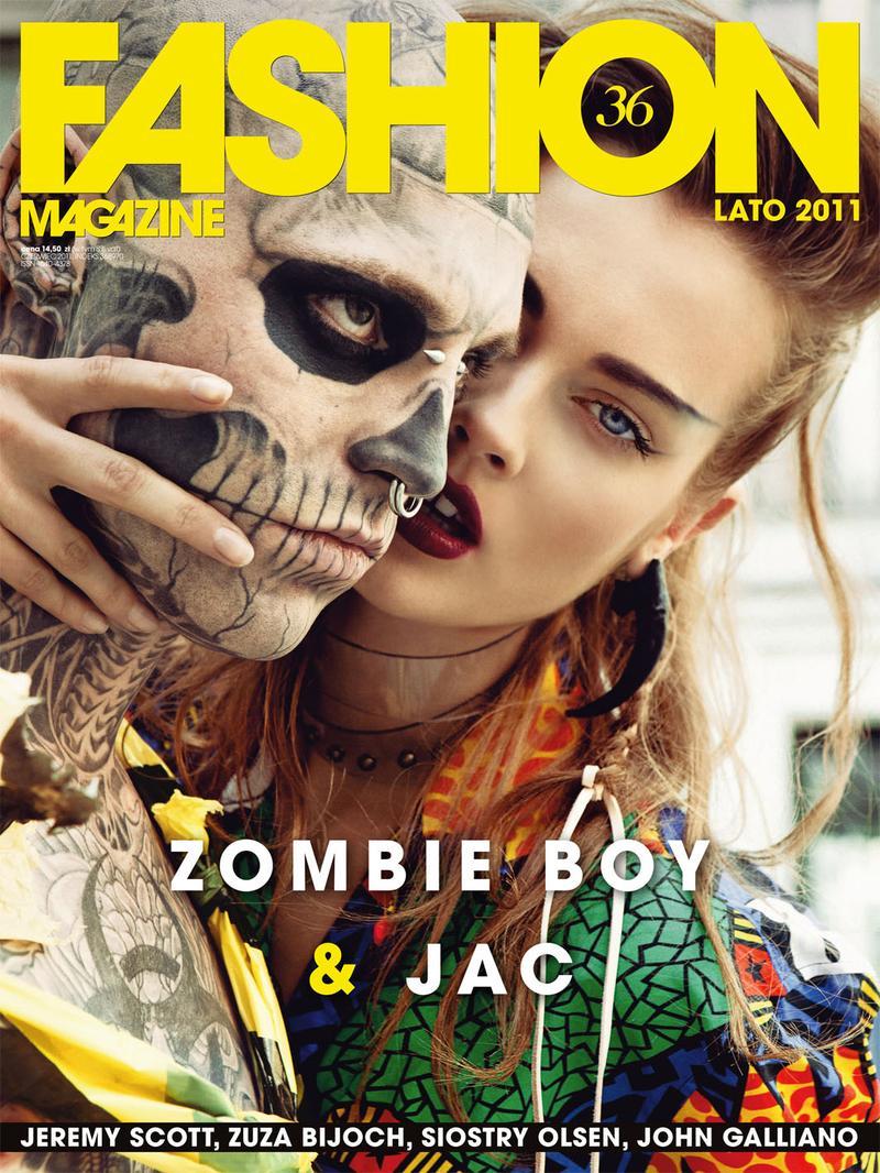 rick genest & monika jagaciak for fashion magazine poland summer