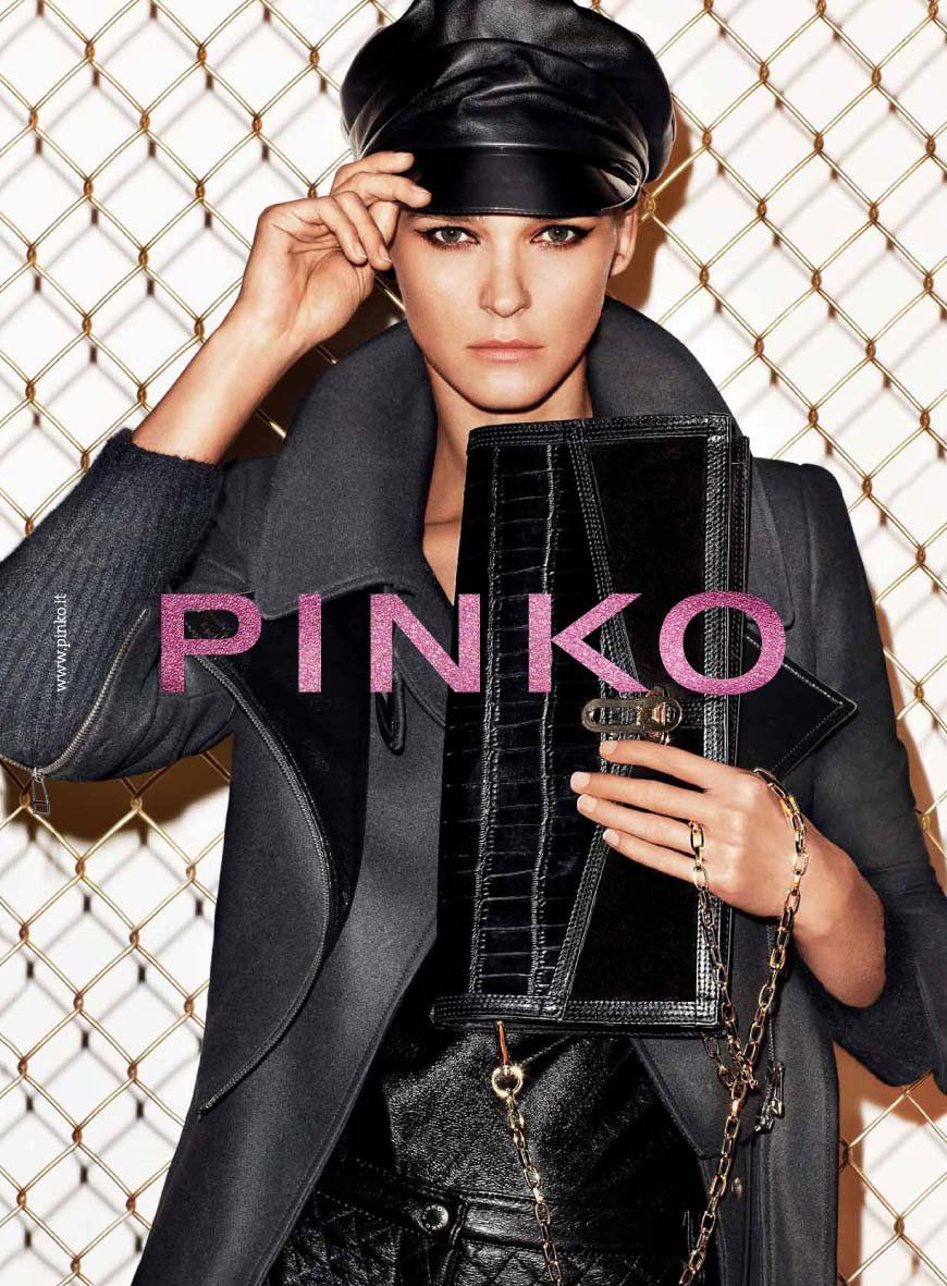267a5c79700bd Supermodel Carmen Kass reprising her role as Pinko campaign girl for their  Fall Winter 2011 ...