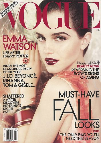 emma watson vogue 2011 us. 21 year old Emma Watson is