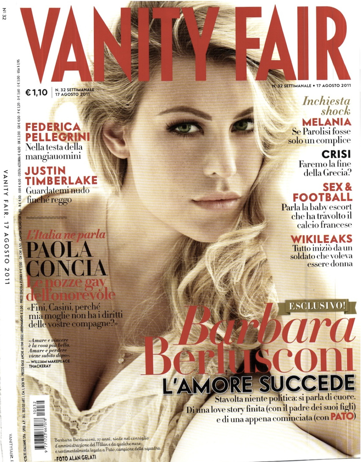 Barbara Berlusconi for Vanity Fair Italia August 17th 2011 ...