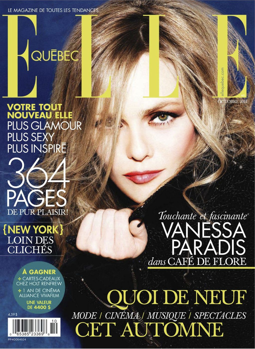 Vanessa Paradis appeared on the cover of a magazine without underwear