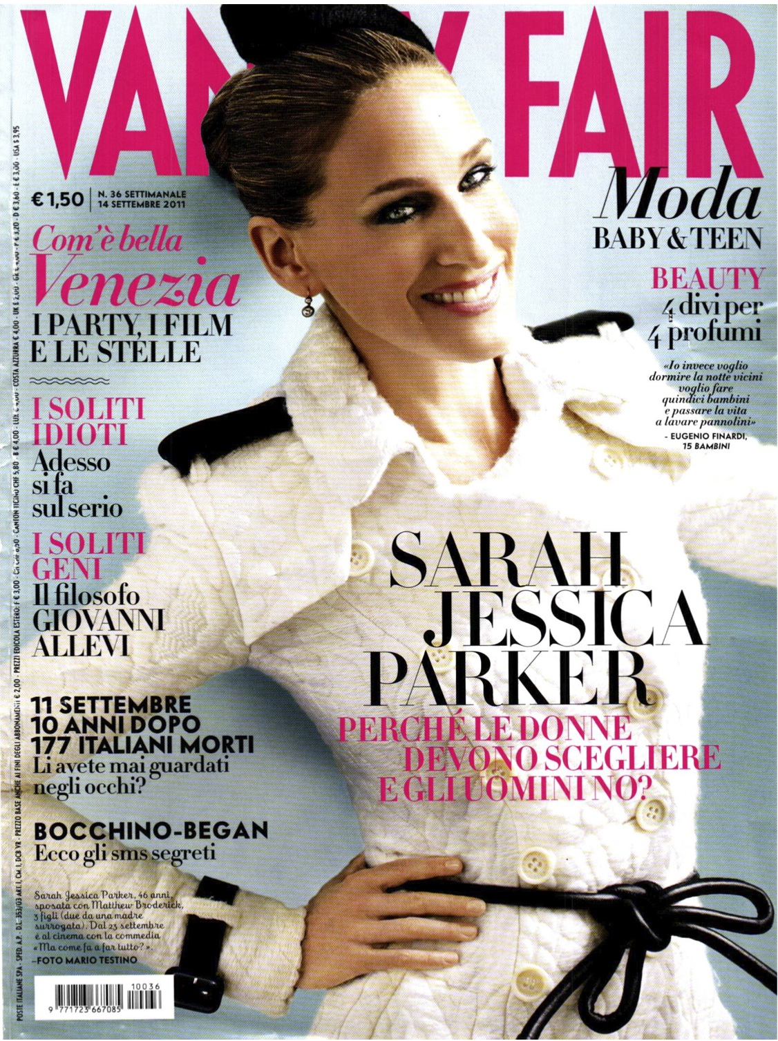 Sarah Jessica Parker for Vanity Fair Italia September 14th 2011 ...