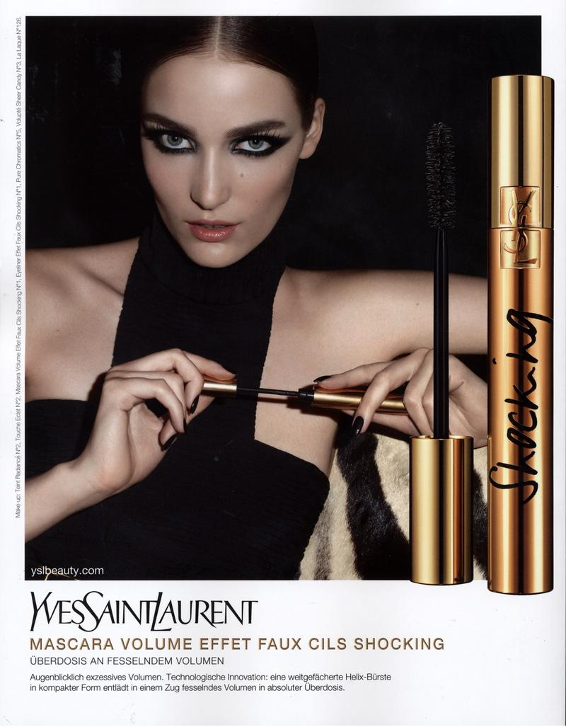 yves saint laurent mascara volume effet faux cils shocking 2011 ad campaign art8amby 39 s blog. Black Bedroom Furniture Sets. Home Design Ideas