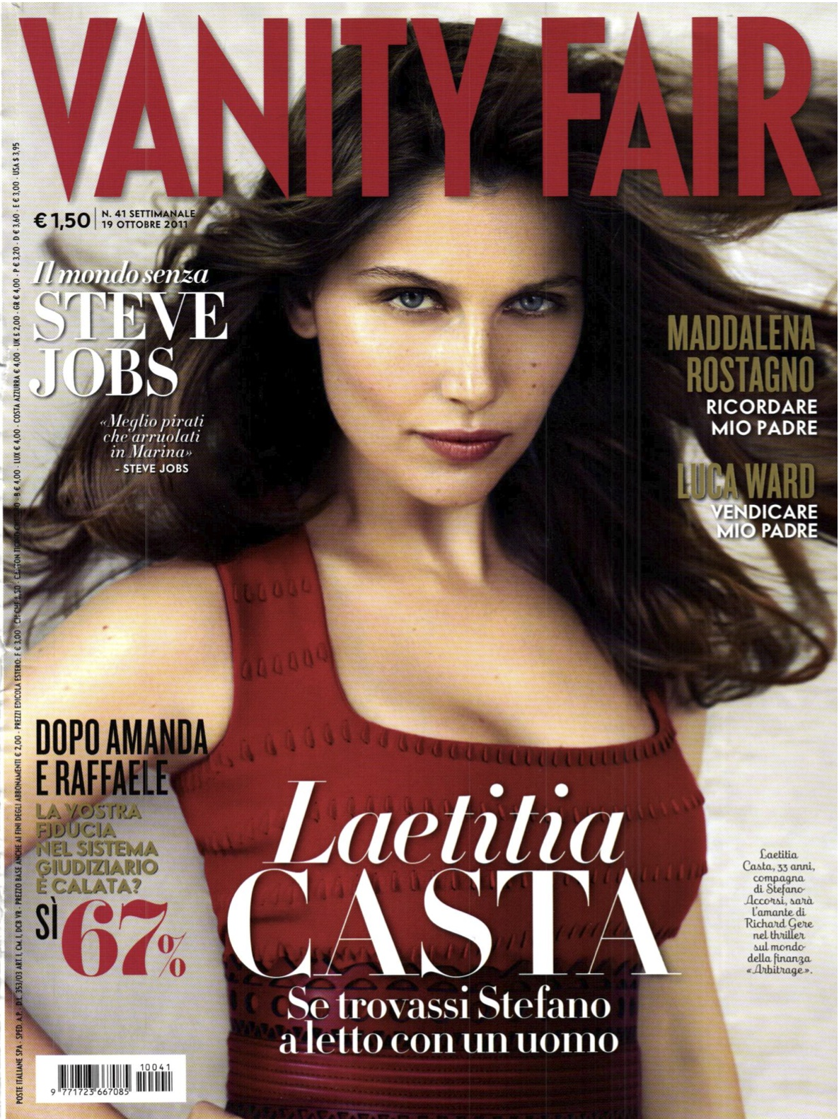 Laetitia Casta for Vanity Fair Italia October 19th 2011 | Art8amby\'s ...