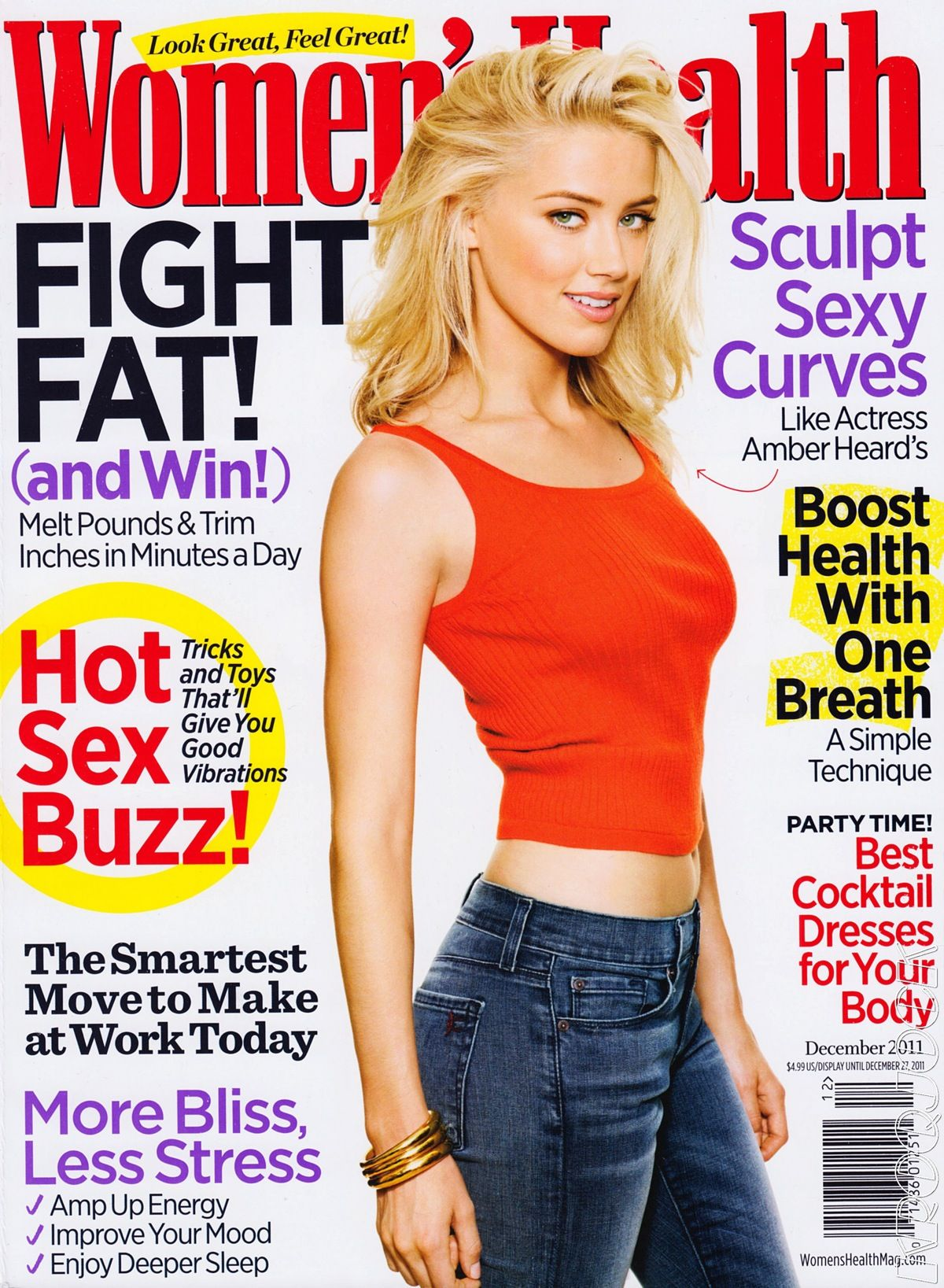 Woman S Leather Harness: Amber Heard For Women's Health US December 2011