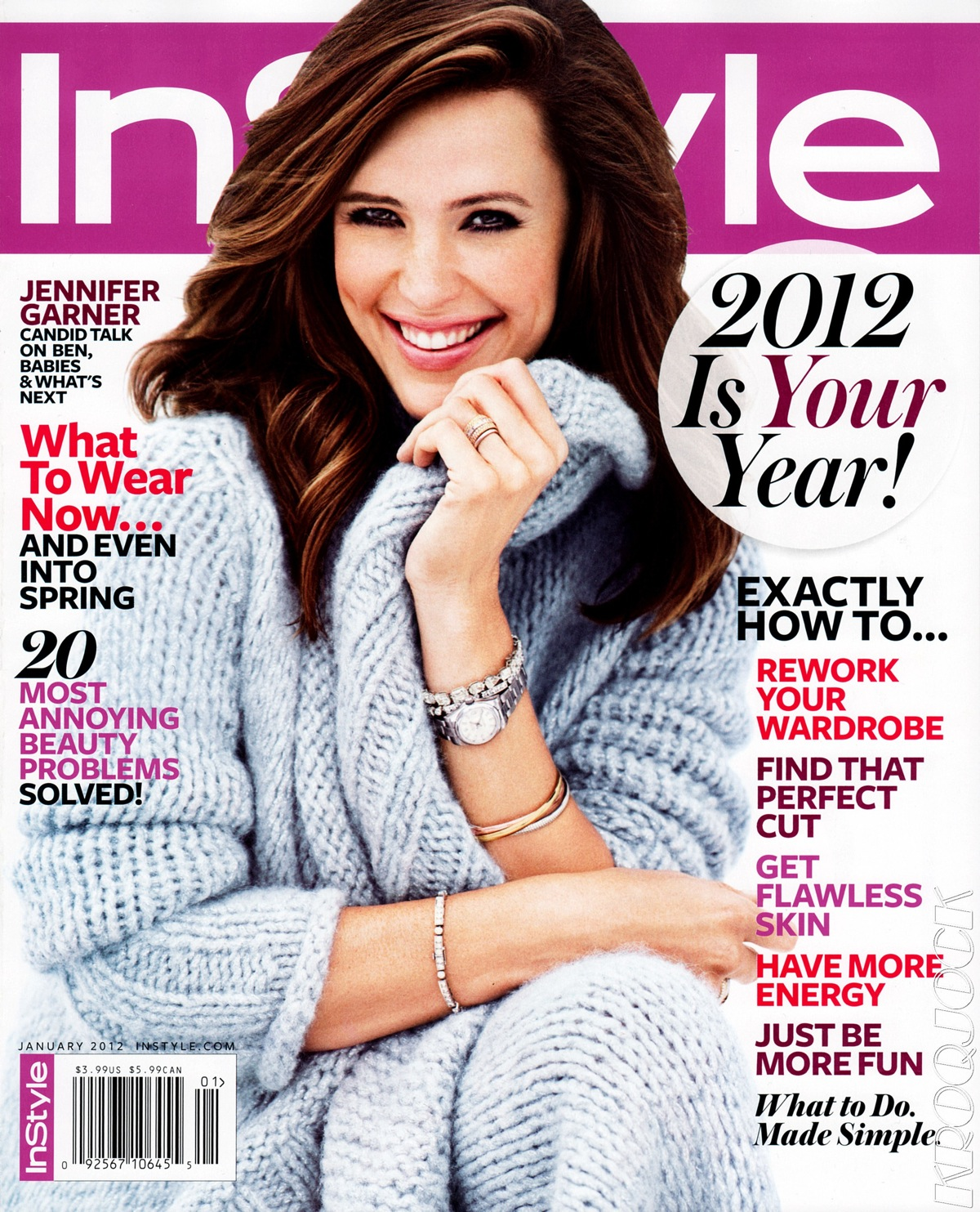 jennifer garner for instyle us january 2012 art8amby 39 s blog. Black Bedroom Furniture Sets. Home Design Ideas
