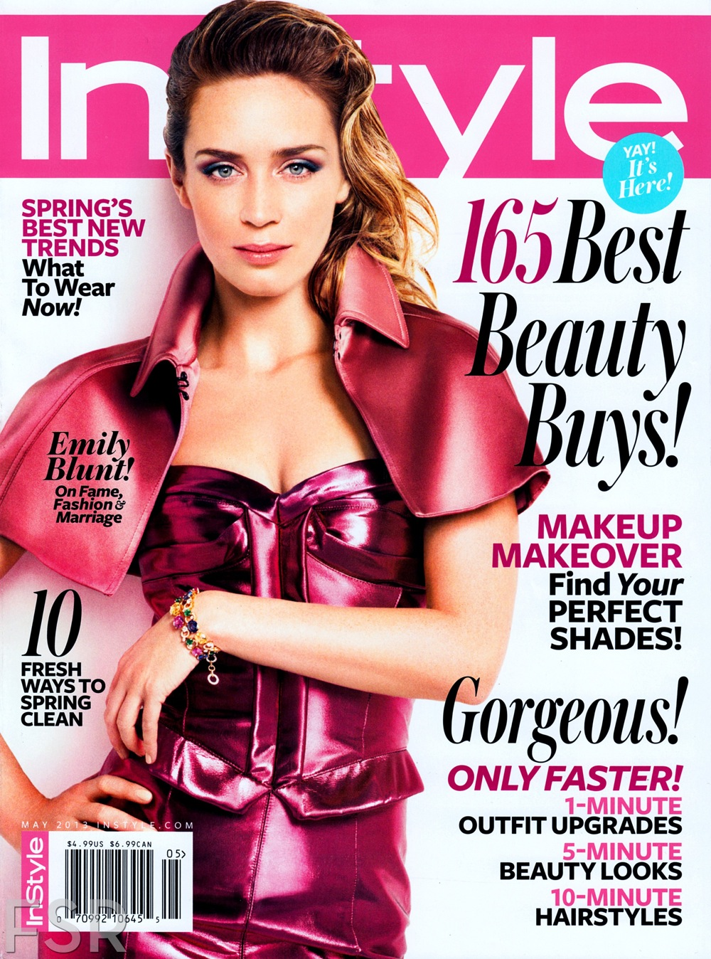Instyle Magazine Us: Emily Blunt For InStyle US May 2013